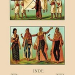 A Variety of Indian Ceremonial Garb #3 by Auguste Racinet - Art Print