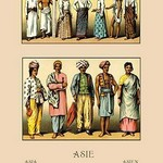 An Assortment of Asian Clothing by Auguste Racinet - Art Print