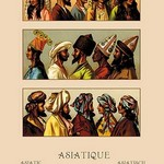 A Variety of Asiatic Head-Coverings by Auguste Racinet - Art Print