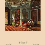 A Persian Interior by Auguste Racinet - Art Print
