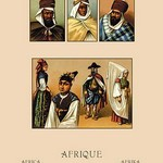 An Assortment of African Costumes by Auguste Racinet - Art Print