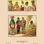 A Variety of African Costumes #2 by Auguste Racinet - Art Print