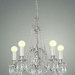 Chandelier With Lights - Art Print