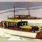 38 ft. Double Cabin Cruiser and 46 ft. Sport Cruiser by Douglas Donald - Art Print