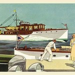48' and 45' Twin Screw Cruisers by Douglas Donald - Art Print