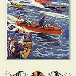 16 ft. Runabout by Edw. A. Wilson - Art Print