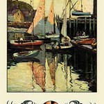 Yacht Harbor by Anthony Thieme - Art Print