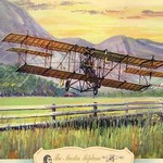 The Martin Biplane, 1909 by Charles H. Hubbell - Art Print