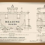 Reading Four-Wheel Caboose - Art Print