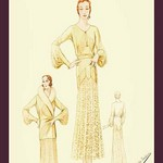 Winter Dress and Overcoat in Yellow by Atelier Bachroitz - Art Print