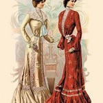 Attractive Afternoon Gowns - Art Print