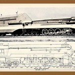 Train Drawing and Photo - Art Print