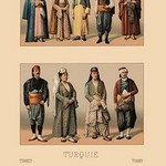 A Variety of Turkish Costumes #2 by Auguste Racinet - Art Print