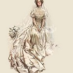 A Beautiful Bride by Harrison Fisher - Art Print