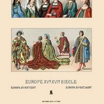 A Variety of French Fashions, 1485-1510 by Auguste Racinet - Art Print