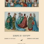 A Variety of Fifteenth Century French Costumes by Auguste Racinet - Art Print