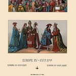 An Assortment of Fifteenth Century French Costumes by Auguste Racinet - Art Print