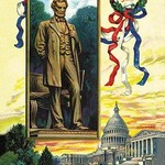 The St. Gaudens Statue and the Capitol by C. Chapman - Art Print