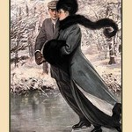 A Winter's Date by Clarence F. Underwood - Art Print