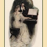 A Love Song by Clarence F. Underwood - Art Print