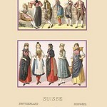 A Variety of Swiss Fashions by Auguste Racinet - Art Print
