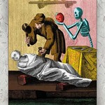Death and a Sculptor - Art Print