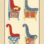 Ancient Egyptian Chairs by John Gardner Wilkinson - Art Print