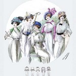 Album Blouses Nouvelles: Five Fancy Hats by Atelier Bachroitz - Art Print