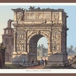 Arch of Trajan at Benevento by M. DuBourg - Art Print