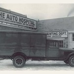 Truck at the Auto Hospital - Art Print