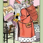 A Visit from Santa Claus by Rosa C. Petherick - Art Print