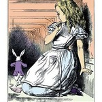 Alice in Wonderland: Alice Watches the White Rabbit by John Tenniel - Art Print