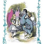 Alice in Wonderland: Dodo Gives Alice a Thimble by John Tenniel - Art Print