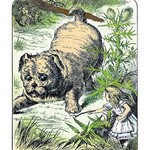 Alice in Wonderland: Alice and the Enormous Puppy by John Tenniel - Art Print