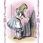 Alice in Wonderland: Alice Tries the Golden Key by John Tenniel - Art Print