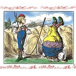 Alice in Wonderland: Father William and the Young Man by John Tenniel - Art Print