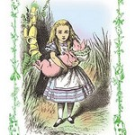 Alice in Wonderland: Alice and the Pig-Baby by John Tenniel - Art Print