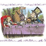 Alice in Wonderland: A Mad Tea Party by John Tenniel - Art Print
