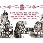 Alice in Wonderland: King and Tarts by John Tenniel - Art Print
