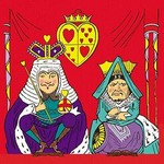 Alice in Wonderland: The King and Queen of Hearts by John Tenniel - Art Print