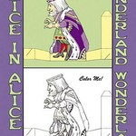 Alice in Wonderland: The King - Color Me! by John Tenniel - Art Print