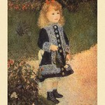A Girl with a Watering Can by Renoir - Art Print