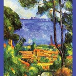 A View Through the Trees of by Paul Cezanne - Art Print