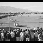 Baseball Game at Manzanar by Ansel Adams - Art Print