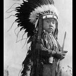 A Cheyenne Warrior of the Future by Richard Throssel - Art Print