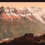 Valley of Chamonix from the Aiguille du Floria by Detroit Photographic Company - Art Print