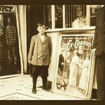 12 year old usher at the Princess Theater by Lewis Wickes Hine - Art Print