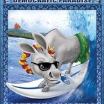 Blue Hawaii - Riding the Pipeline to Democratic Paradise by Richard Kelly - Art Print