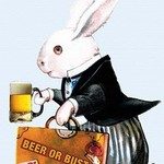 Beer Rabbit - Art Print