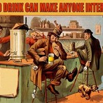 A Good Drink can Make Anyone Interesting by Wilbur Pierce - Art Print